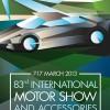 Plakat 83. Međunarodnog salona automobila u Ženevi, 2013.