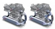 Tok plinova u Bitrubo 3.0 V6 TDI motoru: samo klasični turbopunjač (lijevo) i oba punjača (Audi AG)