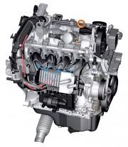 1,2-ltreni TSI motor (77 kW) s međuhladnjakom hlađenim tekućinom (Volkswagen AG)