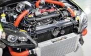 Međuhladnjak velikog kapaciteta za Subaru WRX STi smješten je ispred hladnjaka motora serije EJ (AMR Performance)