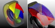 Unutrašnja konstrukcija dijagonalne (lijevo) i radijalne automobilske gume (Michelin)
