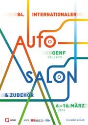 Plakat 84. međunarodnog salona automobila u Ženevi