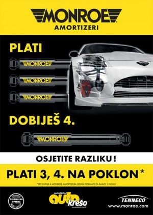 Akcije! - Auto Krešo 3+1: tri Monroe amortizera uz jedan gratis!