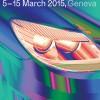 Plakat 85. međunarodnog salona automobila u Ženevi (autori: Monika Regina Nef i Nico Bucci - Visoka umjetnička škola iz Züricha / Zürcher Hochschule der Künste)
