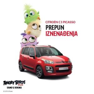 Akcije! - Citroën C3 i C3 Picasso tijekom lipnja u akciji s Angry Birdsima!