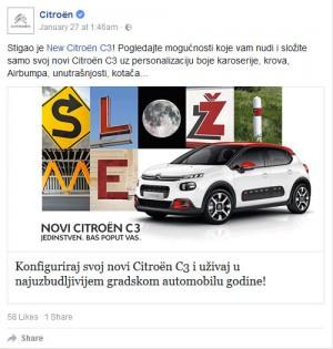 Vijesti - Novi Citroën C3 je dobio prvi mobilni konfigurator na našem tržištu