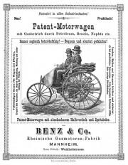 Reklama za Patent-Motorwagen (Daimler AG)