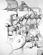 OM 138, motor prvog serijskog diesel automobila, Mercedesa 260 D (Daimler AG)