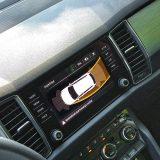 """Testirani je automobil bio opremljen senzorima za pomoć pri parkiranju, a ne kamerom. Čemu, onda, služe zakretne """"vodilice"""" na ovom prikazu (pri vožnji unatrag), nije nam baš jasno"""