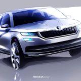 Dizajnerska skica Škode Kodiaq: automobil je predstavljen javnosti početkom rujna 2016. godine