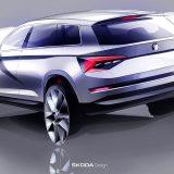 Dizajnerska skica Škode Kodiaq: od prvog predstavljanja, Škoda je krajem siječnja ove godine tržištima ponudila i Kodiaq Scout te Sportline