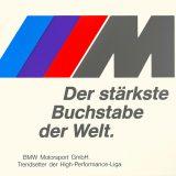 """Oglas za BMW Motorsport GmbH """"Najsnažnije slovo na svijetu"""""""