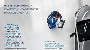 Peugeotova servisna akcija za članove Kluba vjernosti