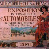 Plakat 1. međunarodnog salona automobila u Parizu, 1898.