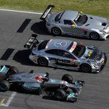 45 godina AMG-a: bolid Formule 1, DTM automobil te SLS AMG GT3 iz programa za vanjske kupce (2012.)