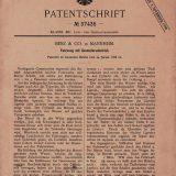 Početak: svih 75 milijuna automobila koliko ih se godišnje proizvede na svijetu svoje podrijetlo vuku od Patent-Motorwagena Nr. 1. Patent 37435 najznačajniji je dokument automobilske industrije uopće