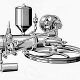 Premda ga nazivamo benzinskim, Otto-motor Benzovog prvog automobila bio je pokretan mješavinom benzina i alkohola nazvanom Ligroin. Tu su i dva ventila te otvoreno kučište koljenastog vratila