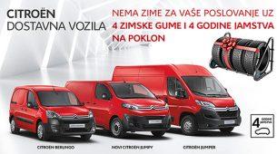 Četiri godine jamstva i četiri zimske gume uz dostavna vozila Citroëna