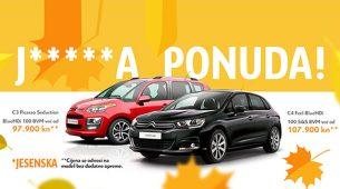 Jesenska ponuda za Citroën C3 Picasso i C4