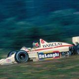 Gerhard Berger za upravljačem bolida Arrows-BMW (1985.)