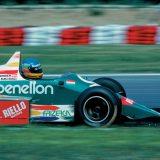 Gerhard Berger za upravljačem bolida Benetton-BMW (1986.)
