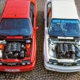 BMW M3 E30 predstavljen je 1987. u cestovnoj (lijevo) i natjecateljskoj (DTM) izvedbi