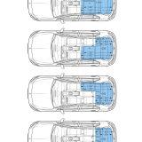 Mercedes-Benz A-Klasse, Innenraumvarianten, Innenmaße //  Mercedes-Benz A-Class, Interior variants, Interior dimensions