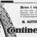 Pored automobilizma, u Splitu je značajnu ulogu imao i motociklizam. Brojni dućani s opremom nalazili su se u gradu u razdoblju između dva svjetska rata. Oglas je iz 1931. godine