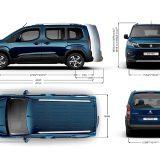 Peugeot Rifter: dimenzije
