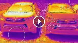 Termalna kamera pokazala koliko se ugriju crni automobili