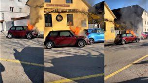 Bizaran slučaj iz Slovenije: Mini se zapalio i – krenuo