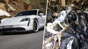 Električni Porsche Taycan zapalio se u garaži sam od sebe