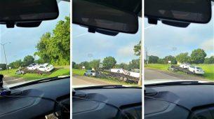Kamionetom s prikolicom zabrazdio u offroad vožnju