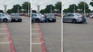 Udarila u drugi auto – prvo slučajno, potom namjerno